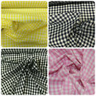 """1/8"""" Polycotton Gingham Fabric Check £2.85 per metre 114cm / 45"""" Wide Free Post"""