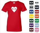 You + Me Personalized Couples Gf Bf Love Initials In Heart Funny Woman's T-shirt