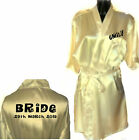 Personalised Wedding Satin Dressing Gown / Robe / Wrap Hen Party Girls Weekend