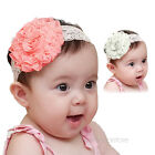 New Baby Girls Infant Toddler Kids Flower Lace Tulle Headband Headwear Hair Band