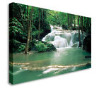 Kao Pun Temple Thailand Waterfall Wall Picture Canvas Art Cheap Print