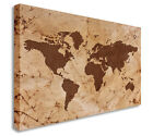 Vintage World Map Brown Style Wall Picture Prints Canvas Art Cheap