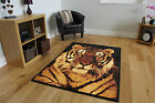 New Black Gold Beige Tiger Wildlife Rug Soft Comfy Affordable Animal Print Milan