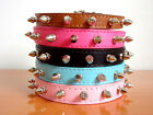 New PU Leather Spiked Studded Dog Collars Puppy Small Dog Pet Collars S M L XL