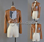 Shingeki no Kyojin Attack on Titan Eren Jäger Cosplay Recon Corps Leather Jacket
