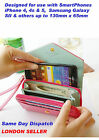 Envelope Purse Clutch Bag Card Wrist Wallet Case for iPhone 6 Samsung S5 Note 3