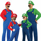 Super Mario / Luigi Bros Men's & Boy's 80s Fancy Dress Costumes