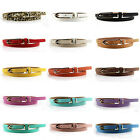 Newest Hot Fashion Women Multicolor Waistband PU Leather Thin Skinny Belt Buckle