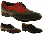 Ladies Smart Lace Up Brogues Womens Faux Leather Work Pumps School Office Shoes