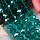 Green Faceted Crystal Glass Rondelle Beads Beautiful ornaments