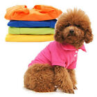 Pet Puppy Dog Pullover Apparel POLO Shirt Cool Cat T-Shirts Clothes XS S M L