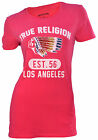 True Religion Brand Jeans Women's Rainbow Bling Native Indian Shirt-Pink