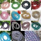 """72p Fashion 96 Faceted Glass Loose Beads Fit DIY Craft Charm 8mm 19.5"""" Strand"""