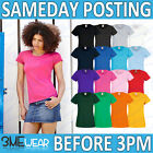 FOTL LADIES T-SHIRT,PLAIN BLANK TEE, WOMENS ADULTS BULK LADY-FIT PACK TOP 61372