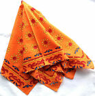 BANDANA YELLOW & ORANGE FLOWERS EGYPTIAN HEADWRAP SCARF UNISEX WOMEN MEN KIDS