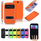 Slim Flip S-View Smart Leather Case Battery Cover For Samsung Galaxy Note2 N7100