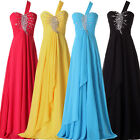 NEW Long One SHoulder Bridesmaid Cocktail Dress Wedding Evening Formal Prom Gown