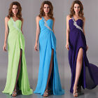 Cocktail Split Maxi Wedding Gown Prom Ball Formal Bridesmaid Evening Party Dress