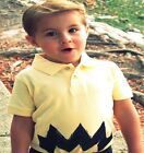 New Charlie Zig Zag Infant Toddler POLO costume shirt yellow peanuts zig zag