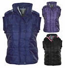 Womens Ladies New Body Warmer Quilted Padded Hood Sleeveless Gilet Coat Jacket