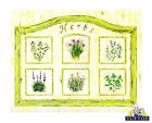 Tuftop Glass Chopping Board 6 Different Herbs Worktop Saver Kitchen Gift 3 Sizes
