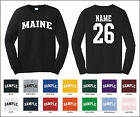 State of Maine Custom Personalized Name & Number Long Sleeve T-shirt