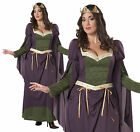 ADULT LADIES PLUS SIZE LADY IN WAITING FANCY DRESS COSTUME MEDIEVAL OUTFIT