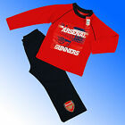 Boys Arsenal FC Gunners Pyjamas Age 4 - 12 Years *Fast 1st Class Despatch