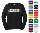 Golden Knights College Letter Team Name Long Sleeve Jersey T-shirt