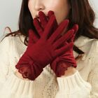 NWT WARMEN Women's Stretch knit winter warmer wool lace and with bows gloves