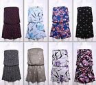 WOMENS LADIES PLAYSUIT SHORTS JUMPSUIT BANDEAU BOOBTUBE ALL IN ONE SIZES 6 TO 24