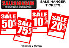 Sale was now % swing tag hanger tickets labels for shop and retail 100