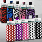 POLKA DOT & ZEBRA (PU) LEATHER PULL TAB POUCH CASE FOR SAMSUNG GALAXY MOBILES