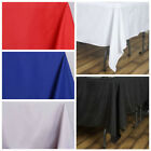 """10 pcs 90x90"""" Square Polyester Tablecloths Wedding Table Linens for Catering"""