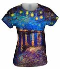 "Yizzam - Van Gogh - ""The Starry Night""- New Womens Top Women Tshirt Tee"