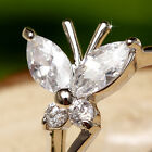 Butterfuly Created Brilliant Diamonds 18K White GP Ring *RA020* choose ring size