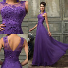 Chiffon + Lace Wedding Prom HIGH LOW Dresses Evening Party Formal Prom Ball Gown