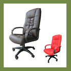 Vienna PU Leather Luxury Office Computer Chair in Black Brown Red or Cream