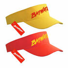 LICENSED BAYWATCH YELLOW & RED VISOR LIFEGUARD SUNVISOR SPORTS CAP FANCY DRESS