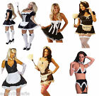 SEXY FRENCH MAID COLLECTION DELUXE FANCY DRESS COSTUMES HALLOWEEN PARTY OUTFIT