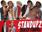 One Direction desk top bedside table card cut out 34cm stands up with fan stand