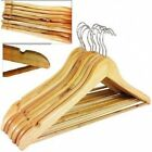 NEW 10 20 30 50 100 WOODEN COAT HANGERS SUIT TROUSER GARMENTS CLOTH COAT HANGER