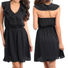 Ladies women Casual Going Out dating Dress Size 8 S 10 M 12 L  NEW Purple Black