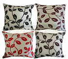 """NEW Floral Leaf Leaves 100% Polyester Cushion Cover 45x45cm 18""""x18"""""""