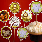 SAFARI THEMED Cupcake Toppers/Picks Birthday/Baby Shower Table Decoration Party