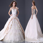 Quinceanera Wedding Dress Bridesmaid Evening Party Prom Gown Formal Long Dress