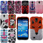 For Samsung Galaxy S4 I9500 I9505 I337 Fox Bubbles Anchor Bling Hard Case Cover