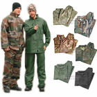 MENS ADULTS MILITARY ARMY WATERPROOF RAINSUIT SET HOODED JACKET & TROUSERS - NEW