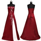Wine Red wedding dress evening dress bridesmaid dress gown ded prom party dress