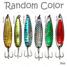 """3pcs 3oz Metal 6"""" Fishing Spoon with Treble Hook Sport Lure bait tackle USA New"""